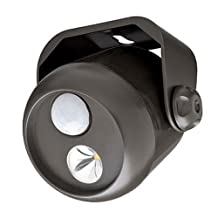 Mr. Beams MB310 Wireless Led Mini Spotlight with Motion Sensor and Photocell, 80-Lumens, Brown