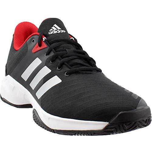 Shoes Tennis Barricade Adidas (adidas  Men's Barricade Court 3 Tennis Shoe, Core Black/White/Scarlet, 11.5 M US)