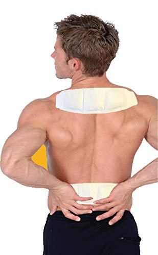 (Sunny Bay Heat Patches for Neck Shoulder Pain Relief:(Pack of 14) Air Activated Self Adhesive Disposable Patch for Sore Back & Menstrual Cramps - Personal Non Electric Deep Muscle Hot Pack Compresses)