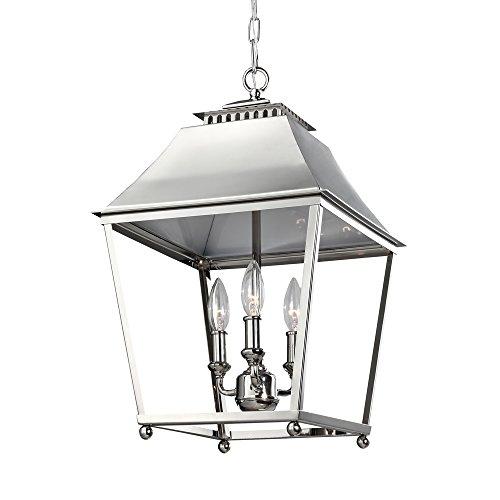 Chrome Lantern Pendant Light in Florida - 5