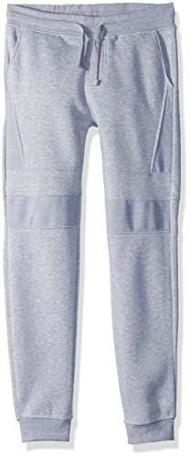 Southpole Boys' Big Active Basic Jogger Fleece Pants, Heather Grey(Moto), Large by Southpole