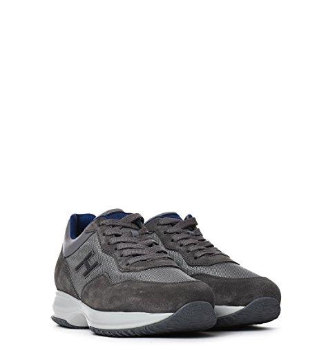 Hogan Sneakers Uomo HXM00N0U410FJ84633 Camoscio Grigio