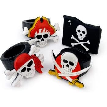 Fun Express Rubber Pirate Rings (12 Count)