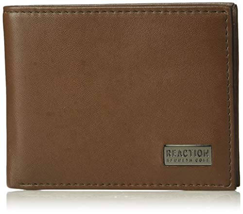 Kenneth Cole REACTION Men's RFID Blocking Security Slimfold Wallet , -brown, One Size