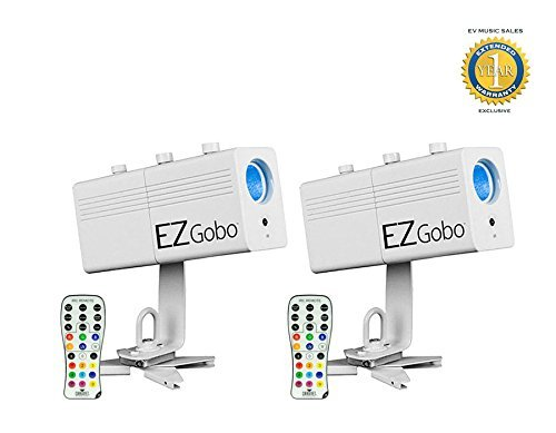 Chauvet EZgobo Rechargeable LED Gobo Lighting Effect 2-Pack with 1 Year Free Extended Warranty by Chauvet