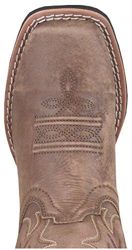 Smoky Gutter Vintage Brun Gallup Firkantet Tå Vestlige Boot Vintage Brun