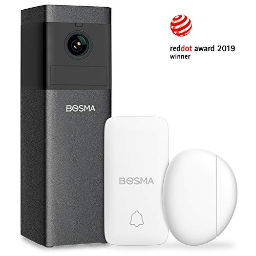 Bosma X1 1080p HD Home Security Camera, with 2-Way Audio, Color Night Vision, Siren Alarm, Advanced Motion Detection, Sound Alerts, Remote Monitoring (Frozen Video Cam)