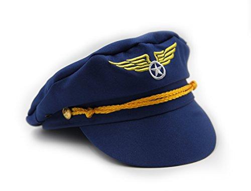 Navy Pilot Uniform Costume (Captain Pilot Hat - Play Kreative)