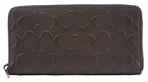 Coach Embossed Signature Leather Wallet