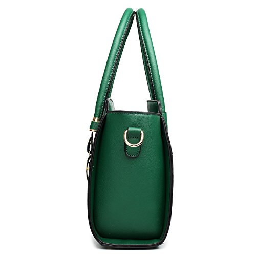 Miss LT1625 Navy Lulu amp;White Green Leather Shoulder Winged 1666 Hand Classic Bag Look rrSwZvqa8