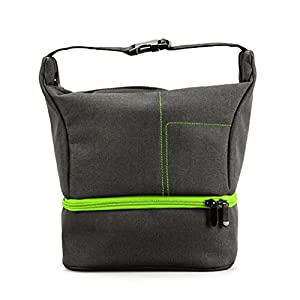 Portable Camera DSLR Handbag Backpack Mokao Mini Waterproof Travel Bag by for Camera Lens Laptop/Tablet and Photography Accessories For Nikon Canon Sony Olympus Samsung Panasonic Pentax Cameras (GN)