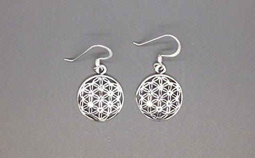 TANGLZ Boucles d'oreilles Fleur de Vie Celtique en Argent Massif 925/1000 LIVRAISON GRATUIT avec suivi
