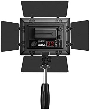 Olympus Pentax DSLR Camera DV and Camcorder YONGNUO YN160 III Pro LED Camera Video Light with Adjustable Color Temperature 3200K-5500K as needed for Canon JVC Samsung Nikon