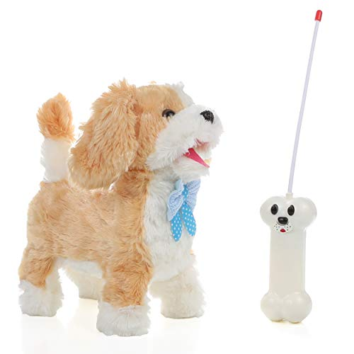IQ Toys Adorable Remote Control Walking and Barking Puppy Dog for Kids with Bone Shaped Remote Control
