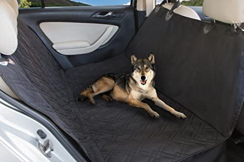 Glyby Dog Car Seat Cover – Car Backing Seat Cover for Pet- Quilted Waterproof Non Slip Hammock Convertible