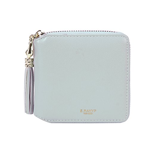 Damara Womens Practical Tassel Zipper Mini Coin Case Wallet,Light Blue