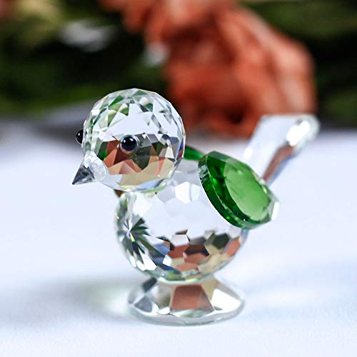 DeemoShop 1 Piece Crystal Cute Bird Model Sparrow Figurine Animal Glass Paperweight DIY Ornaments Gifts Home Decoration Accessories by DeemoShop