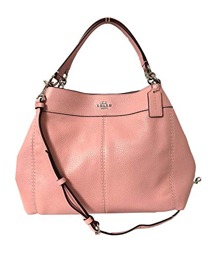 New Womens Coach (F28992) Petal Pink Pebbled Leather Small Lexy Shoulder Handbag