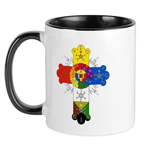CafePress Rose Cross Mug Unique Coffee Mug, Coffee Cup
