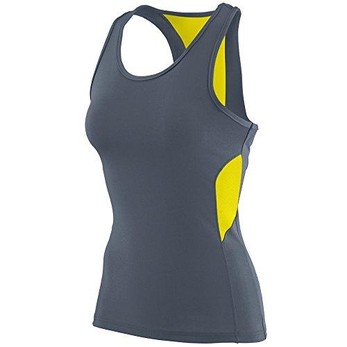 Augusta Sportswear Women's Inspiration Jersey L Graphite/Power Yellow -