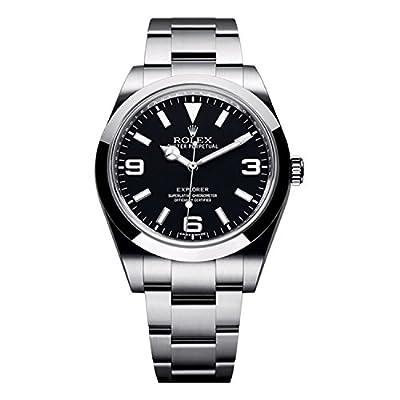 Rolex Explorer 39mm Stainless Steel Watch Black Dial 214270 Unworn