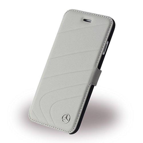 Mercedes MEFLBKP6CLGR Organic Echtleder Booktype Fall Schutzhülle für Apple iPhone 6/6S kristall grau