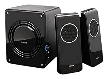 Durherm DR S20 2.1 Glossy Surface Luxury Design Subwoofer Speaker System  Equipped With Microphone And