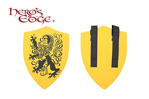 SwordMaster - Thick Foam Medieval Royal Crusader Lion Foam Shield for Cosplay and Larp New (Medieval Foam Larp Shield)