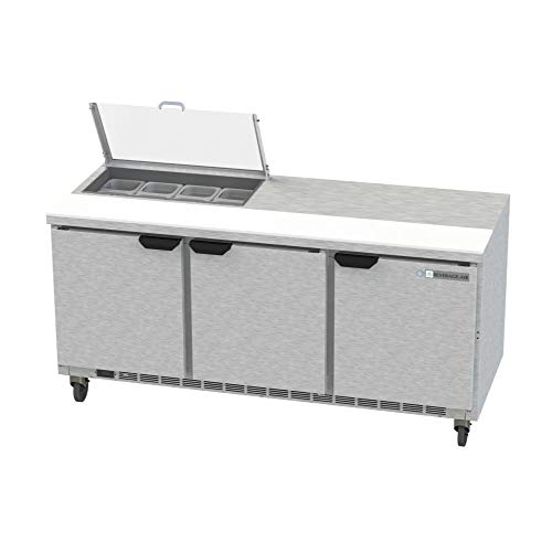 - Beverage Air SPE72HC-08-CL Elite Series Clear Lid Sandwich Top Refrigerated Counter, 72