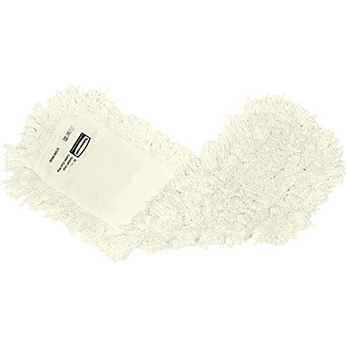 Rubbermaid Commercial FGK75700 Twisted Loop Cotton Dust Mop, 48-Inch Length x 5-Inch Width, White (FGK75700WH00) ()