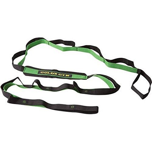 Golds Gym stretch assist strap - 12 levels progressive flexibility by Golds Gym