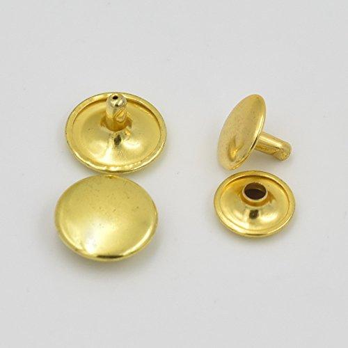 Round Gold Button (200 Pcs 5/8
