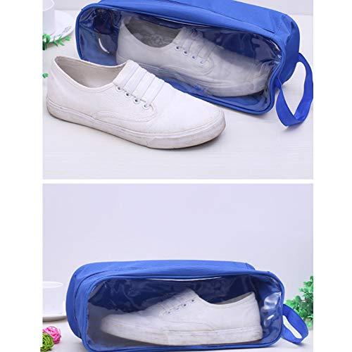à à Chaussures Sacs l'eau Chaussures Bagages étanches Cubes Respirant à Fermeture Organisateur Ndier Emballage à Voyage Bleu à de glissière des Transparent Chaussures Sacs x6Cq0nw8d