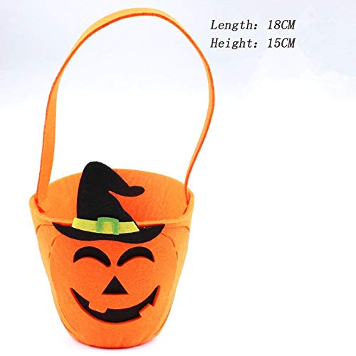 Party DIY Decorations - Fashion Candy Bag Halloween Party Treat Safety Soft Cloth Manmade Bucket Pumpkin Seamless - Supply Women Party Supplies Dress Fashion ()