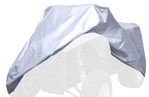 Coverking/MODA UAVLGWRE62 Universal Fit All-Weather Waterproof Cover for ATV Large with Rack- (Silverguard)