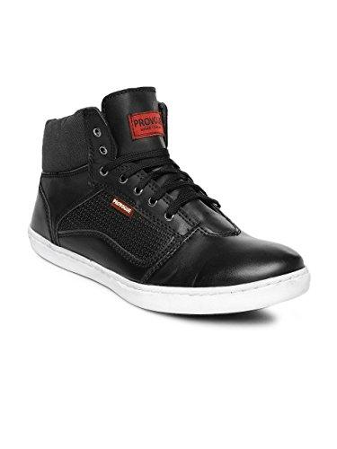 Provogue Men Black High-Top Sneakers