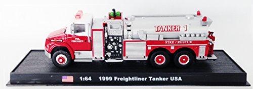 (Freightliner Tanker USA Fire Truck Diecast 1:64 Model (Amercom GB-21))
