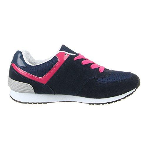 Ital-Design - Zapatillas de Material Sintético para mujer Azul - Blau Pink