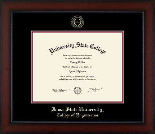Iowa State University College of Engineering - Officially Licensed - Gold Embossed Diploma Frame - Diploma Size 11