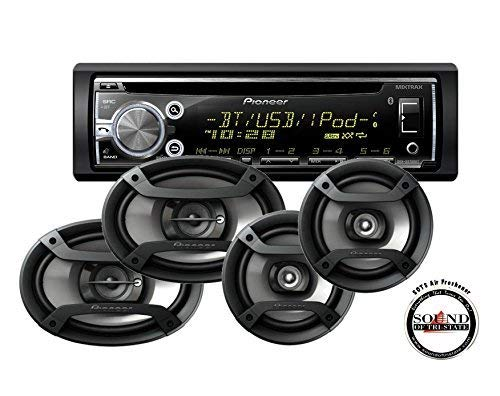 Pioneer DEH-X6800BT Single DIN Bluetooth CD Player with TS-695P 6x9