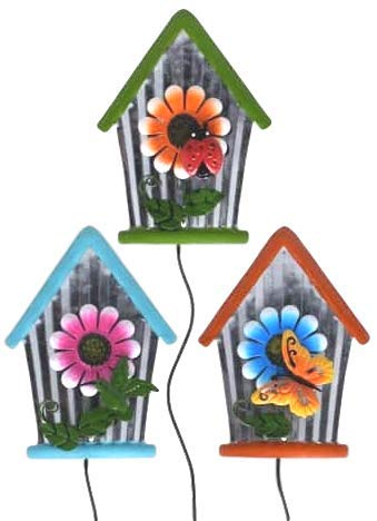 Spring and Summer Garden Yard Stakes - Bundle of Three (3) - Measures 23