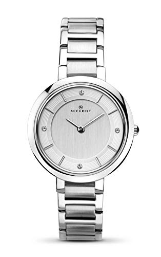 Accurist Ladies Analogue Watch with Silver Dial and Silver Bracelet 8150