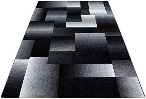 Carpetsale24 Tapis Design Moderne Salon Motif Abstrait Damier Noir Gris  Blanc, Dimension:160x230 cm