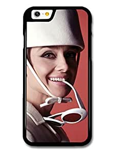 AMAF ? Accessories Audrey Hepburn White Hat & Sunglasses case for iPhone 6