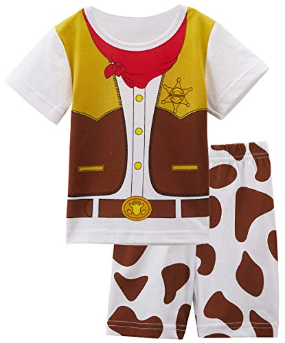 COSLAND Toddler Baby Boys' Funny Western Cowboy Clothing Shorts Sets (Cowboy, 18-24 Months)]()