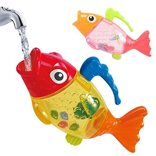 Slendima Lovely Cartoon Fish Water Toy Spraying Shower Bath Toy Carp Sprinkler Gift for Baby Kids ()