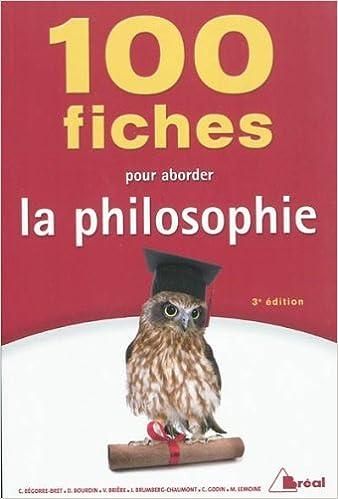 Livre gratuits en ligne 100 fiches pour aborder la philosophie epub, pdf