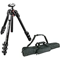 Manfrotto MT055CXPRO4 055 Carbon Fiber 4-Section Tripod with Horizontal Column + Calumet Padded Tripod Bag