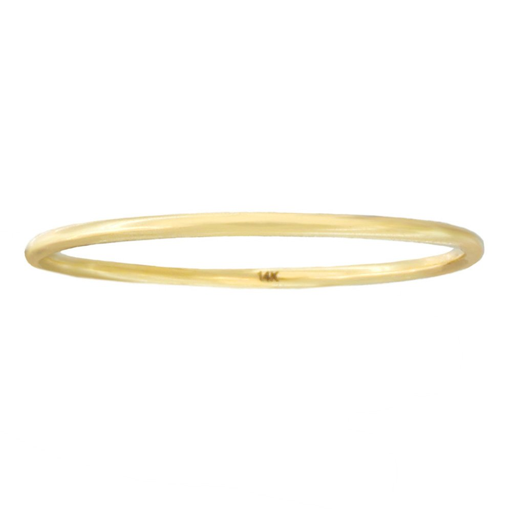 Automic Gold Solid 14k Yellow Gold Line Ring, Size 5