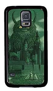 Diy Fashion Case for Samsung Galaxy S5,Black Plastic Case Shell for Samsung Galaxy S5 i9600 with Age of the Giants